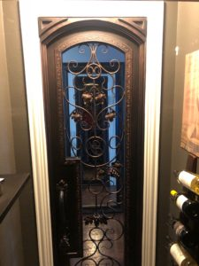 Elegant Wine Room Door