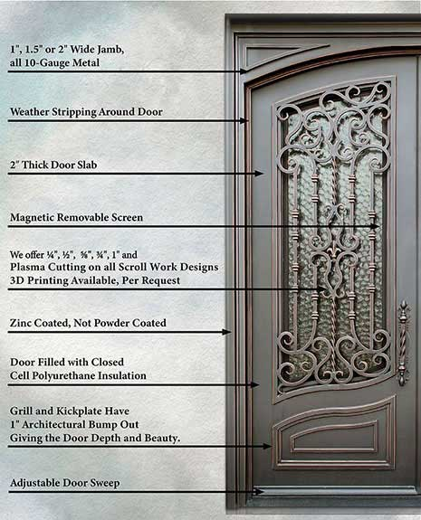 Custom Designed Wrought Iron Doors Railing By Love That Door Dallas Plano Frisco Allen Mckinney Prosper