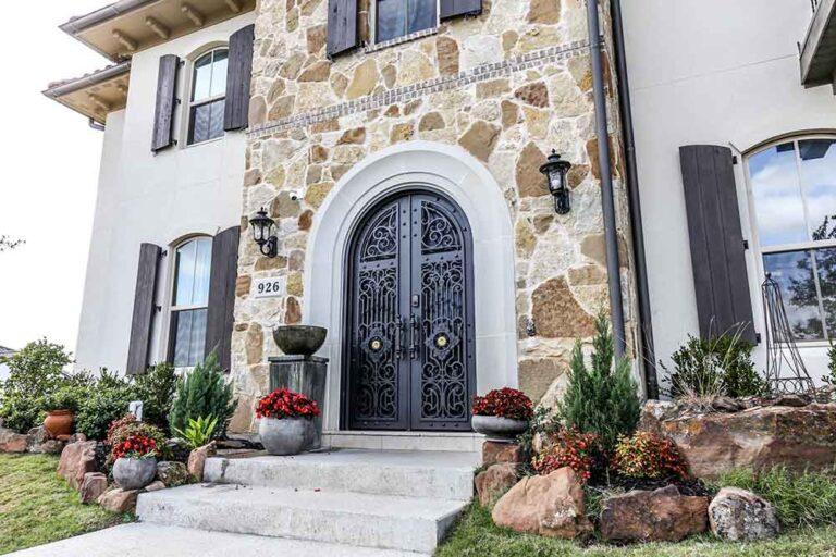 Double Entry Iron Doors Fort Worth